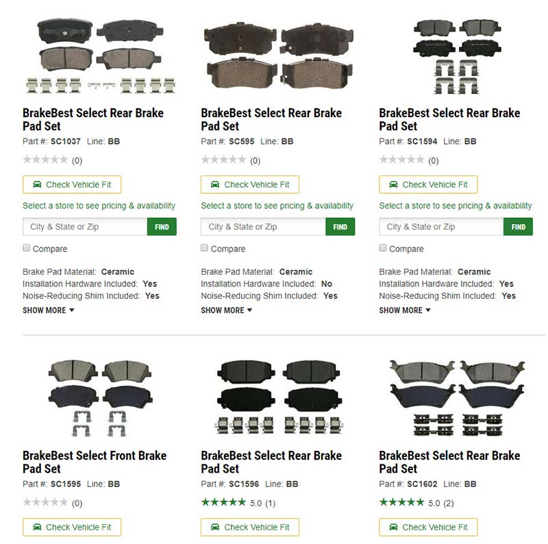 Similar product images on an ecommerce page