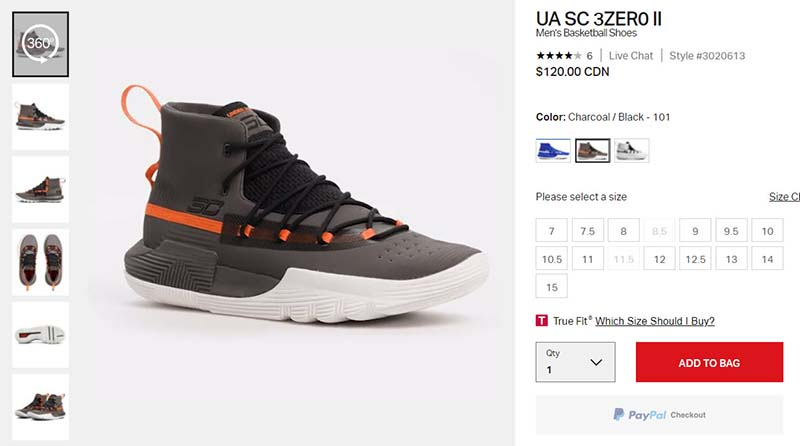 360 product image on an ecommerce product page